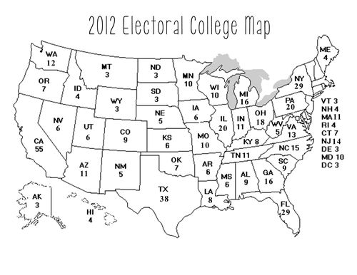 2012 printable electoral college map
